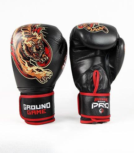 """Boxerské rukavice PRO Ground Game """"Red Tiger"""" 16 oz"""