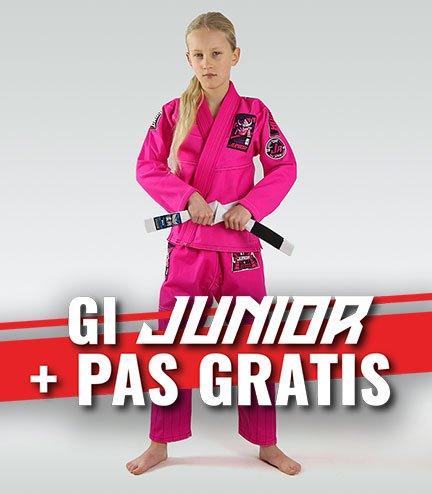 """Dětské kimono GI pro BJJ """"Junior 3.0"""" (RŮŽOVÁ) + pásek ZDARMA"""