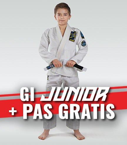 """Dětské kimono Gi BJJ Ground Game """"Junior 3.0"""" (Bílé) + pásek ZDARMA"""