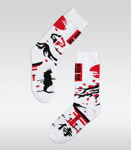 """Ponožky """"Japan"""" bílé"""