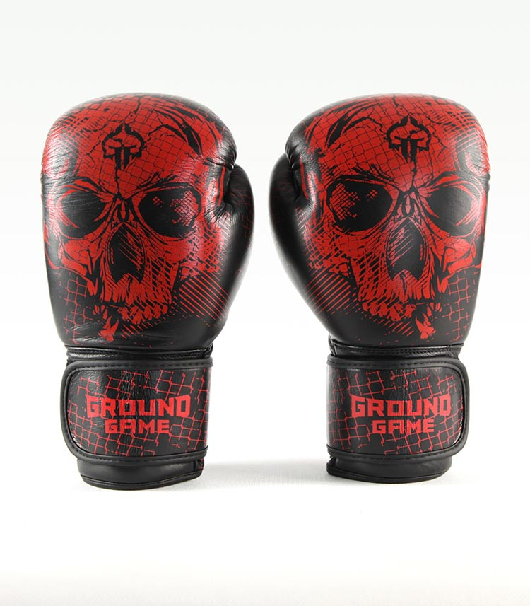 "Boxerské rukavice PRO Ground Game ""Red Skull"" 12 oz"