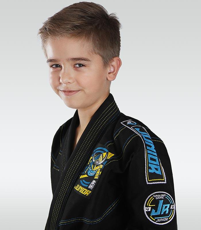 """Dětské kimono GI pro BJJ Ground Game  """"Junior 3.0"""" (Černé)"""