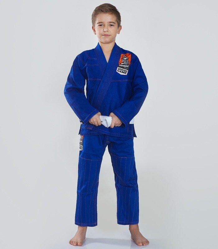 """Dětské kimono Gi BJJ Ground Game """"Tensai"""" (Modré) + pásek ZDARMA"""