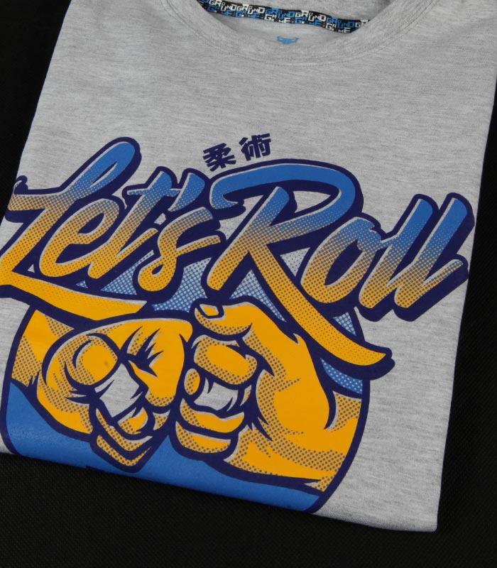 """Pánské tričko Ground Game """"Let`s Roll"""" šedá"""