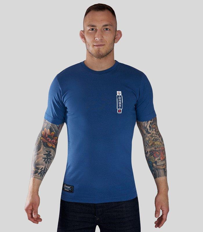"""Pánské tričko Ground Game """"Kanji"""" modré"""