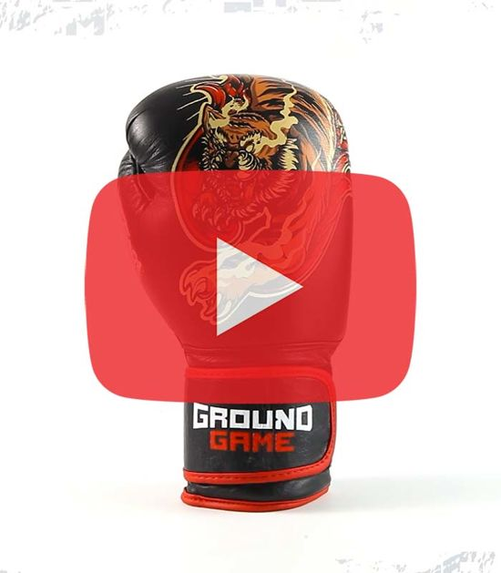 "Boxerské rukavice PRO Ground Game ""Red Tiger"" 10 oz"