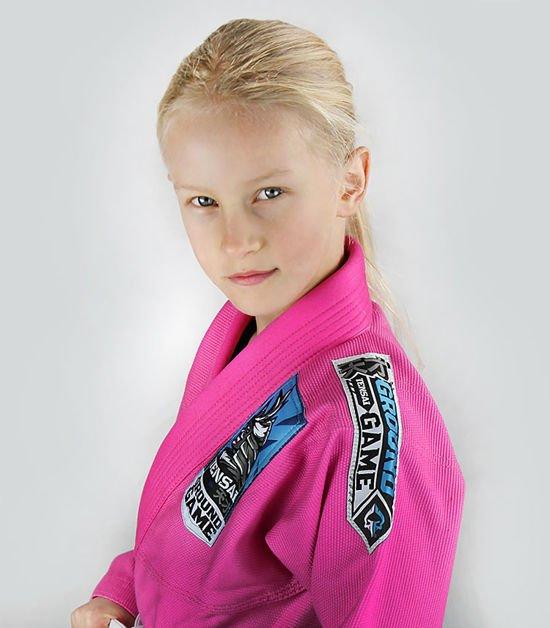 "Dětské kimono GI pro BJJ ""Tensai"" (RŮŽOVÁ) + pásek ZDARMA"
