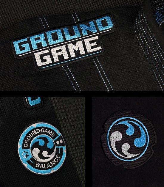 "Kimono Gi BJJ Ground Game  ""Balance 3"" (Černé)"