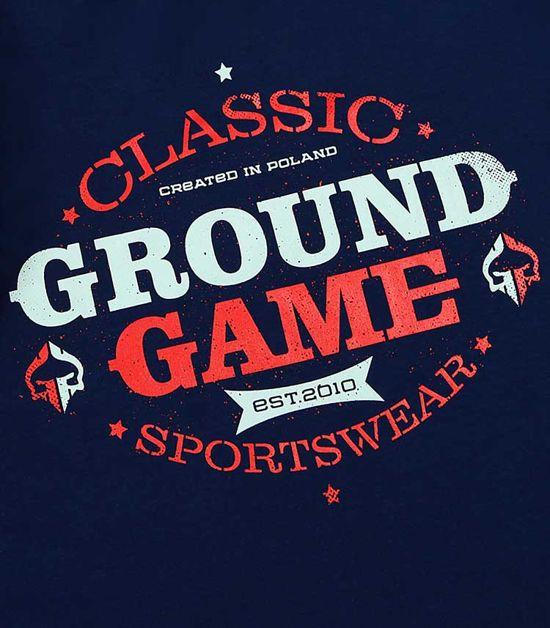 "Pánská mikina Ground Game  ""Classico"" modrá"