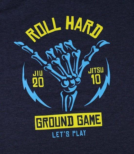 "Pánské tričko Ground Game ""Roll Hard 2"" Tmavě modré Melange"