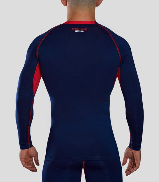 "Rashguard Ground Game ""Athletic"" dlhý rukáv (modrá)"