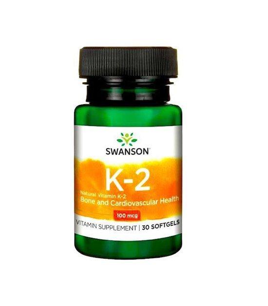 Swanson Witamina K2 100mcg 30 caps