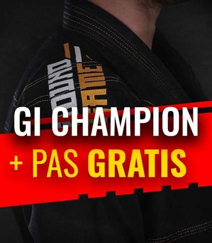 "BJJ GI ""Champion"" (Black) + FREE Belt"