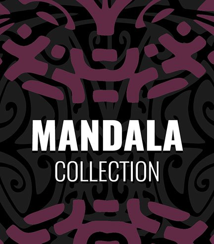 "Collection ""Mandala"" Purple"