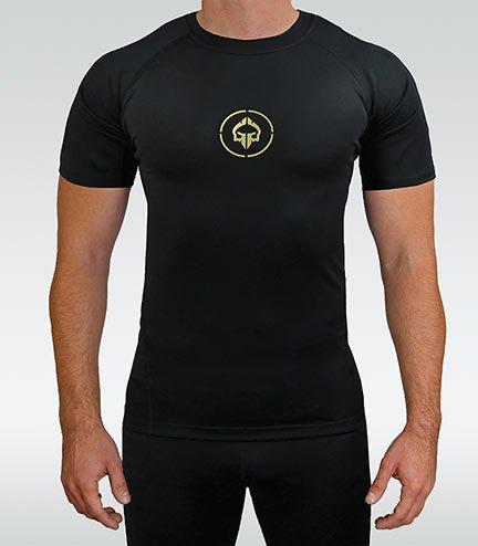 """Rashguard """"Athletic Gold"""" short sleeve"""