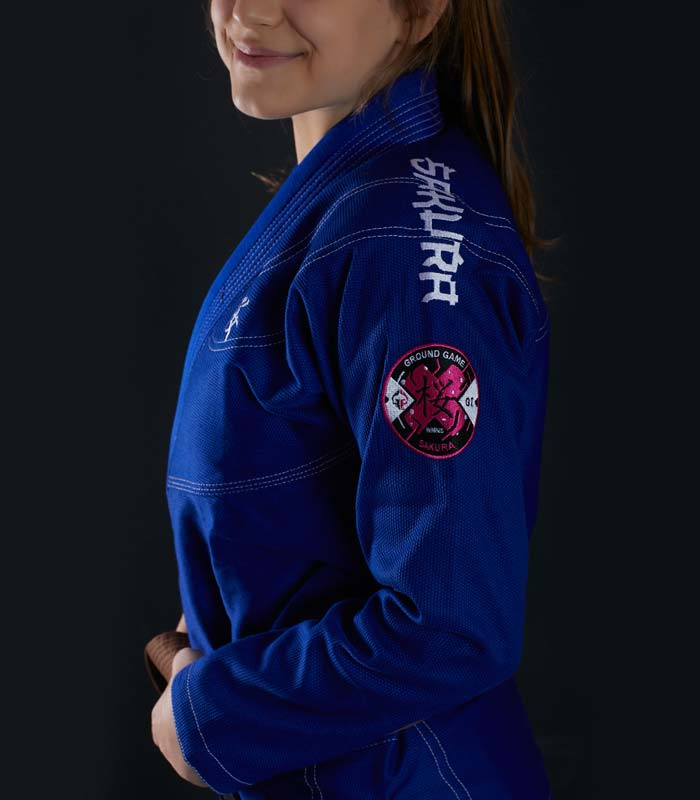 """BJJ Women`s GI """"Sakura"""" (Blue)"""