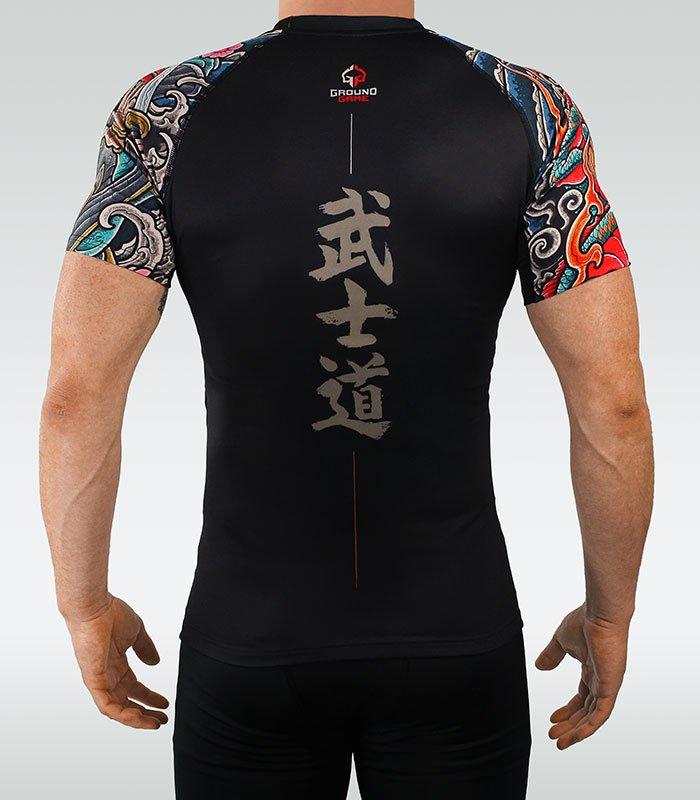 """Rashguard  """"Bushido"""" 3.0 (Black) short sleeve"""