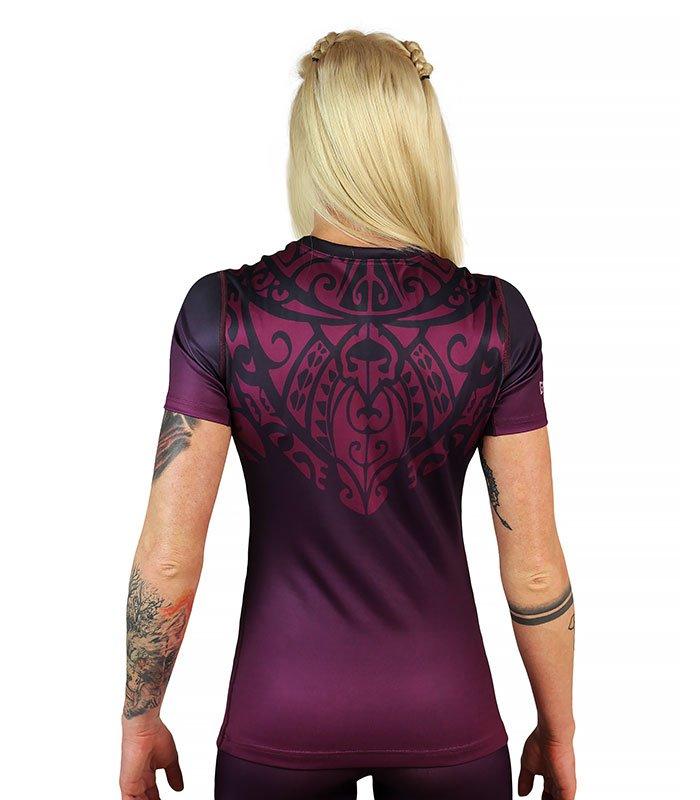 "Rashguard ""Mandala"" Purple short sleeve"