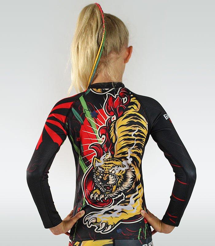 "Rashguard ""Red Tiger Kids"" long sleeve"