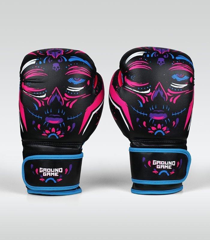 "Women's Boxing Gloves ""La Muerta"" 16 oz"