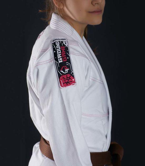 "BJJ Women`s GI ""Sakura"" (White)"
