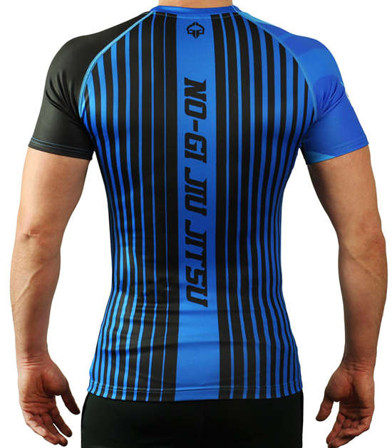 IBJJF Rank Rash Guard for BJJ - Blue