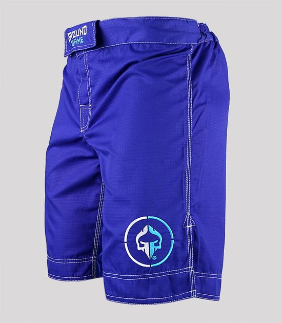 """MMA Shorts """"Athletic"""" Ripstop (Blue)"""