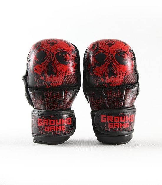 "MMA Sparing Gloves ""Red Skull"""