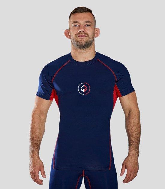 "Rashguard ""Athletic"" short sleeve (Navy blue)"