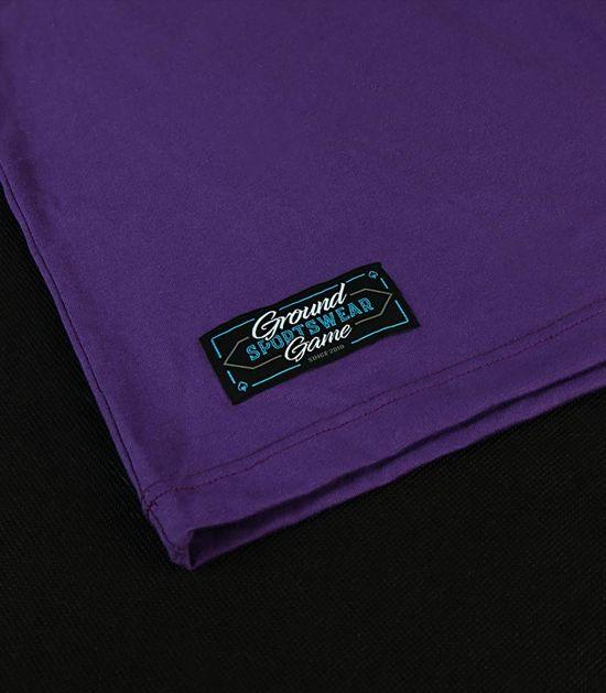 """T-shirt """"BJJ Sunset"""" Violet"""