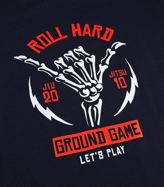"""T-shirt """"Roll Hard"""" Navy Blue"""