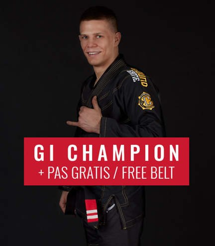 "GI do BJJ ""Champion 2.0"" (Czarne) + pas GRATIS"