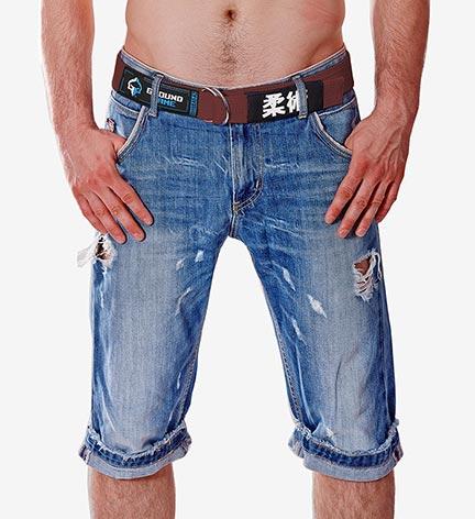 Pas BJJ Jeans (Brązowy)