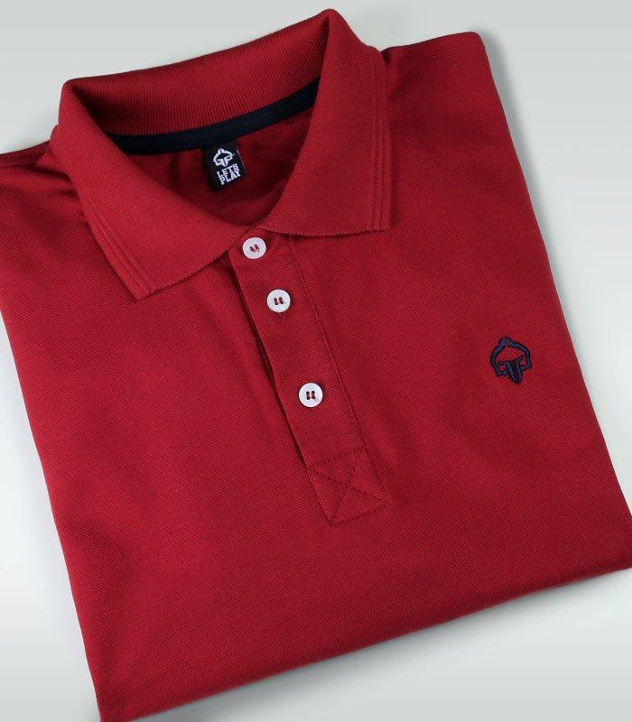 """Koszulka polo  """"Minimal"""" Czerwona"""