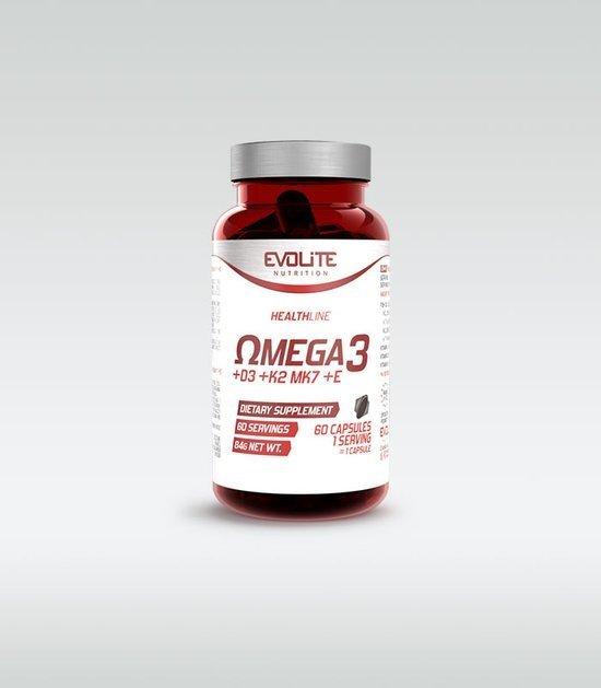 Evolite Omega 3 + D3 + K2 MK7 + E 60 kapsułek