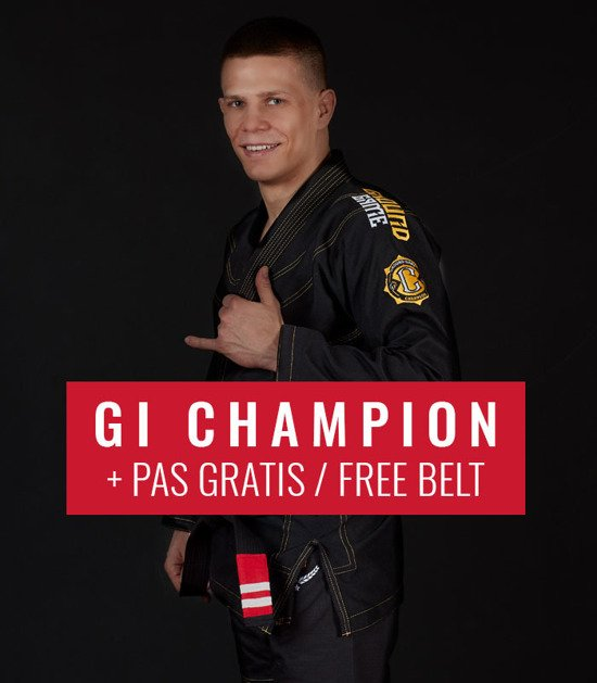"GI do BJJ ""Champion 2.0"" (Czarne) + pas GRATIS"