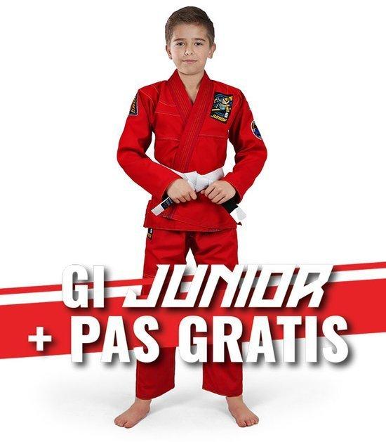 """GI do BJJ dla dzieci """"Junior 3.0"""" (Czerwone) + pas GRATIS"""