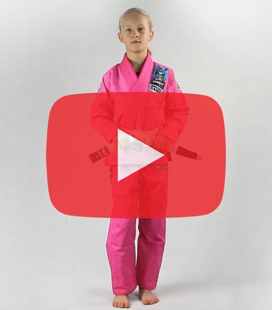 """GI do BJJ dla dzieci """"Tensai"""" (Różowe)"""