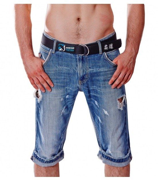 Pas Judo Jeans (Czarny)