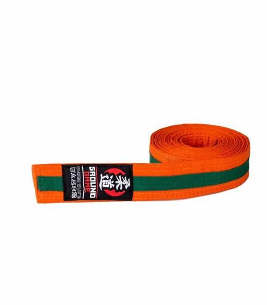 Pas Judo dla dzieci pomarańczowo-zielony