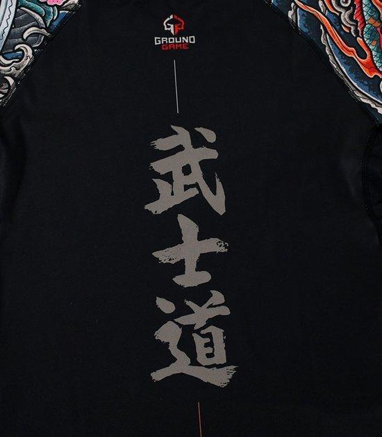 """Rashguard """"Bushido"""" 3.0 krótki rękaw (Czarny)"""