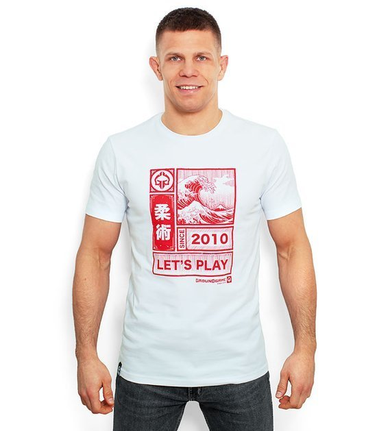 "T-shirt ""Kanagawa"" Biały"