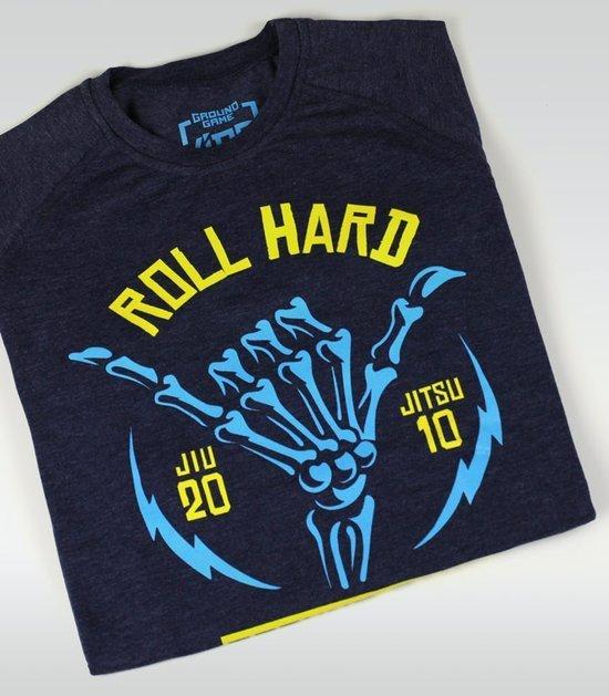 """T-shirt """"Roll Hard Kids"""" granatowy melanż"""